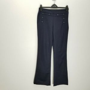CAbi Mariner Pants Nautical Cotton Stretch Flare
